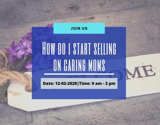How do I start selling on CARING MOMS