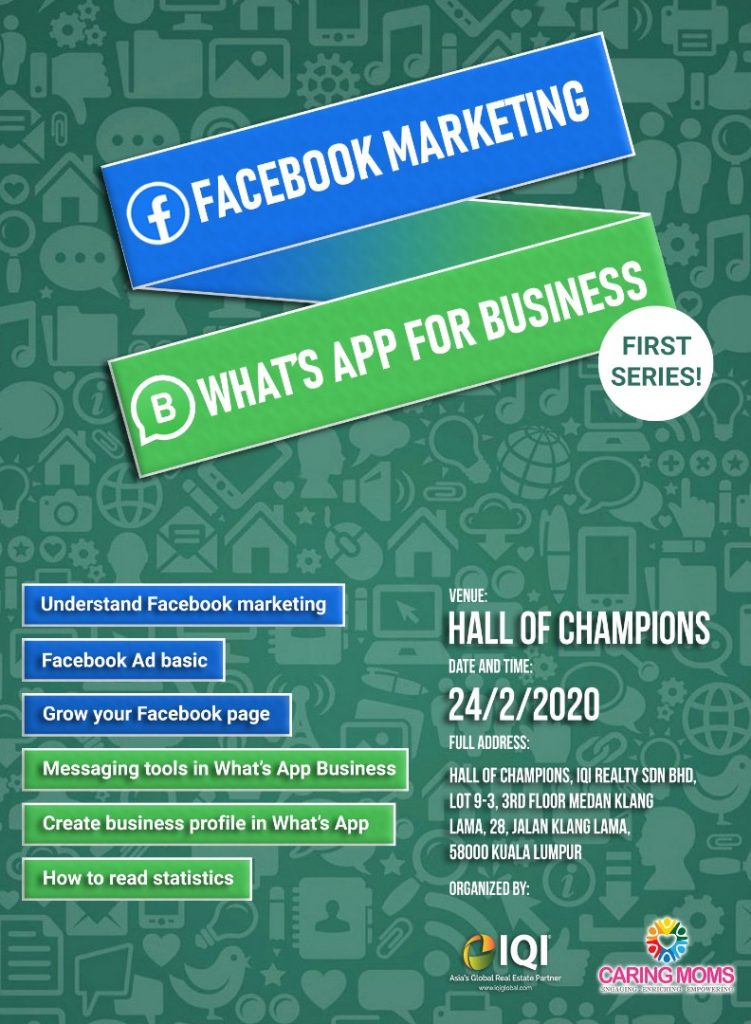 How To Market Effectively on Whatsapp and Facebook 1/2020/Feb24