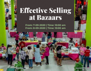 Effective Selling at Bazaars